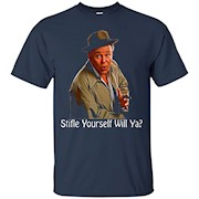 All In The Family Archie Bunker Stifle Yourself Black T-Shirt