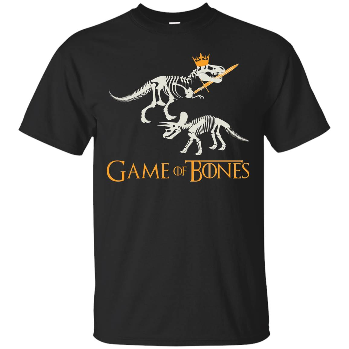 Funny Game Of Bones T-shirt, Dinosaur, T-Rex, Zany Brainy – T-Shirt