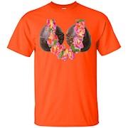 Hawaiian Luau Tiki Coconut Bra Flower Lei Tee Shirt Costume – T-Shirt