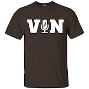 Vin Scully Microphone T-Shirt