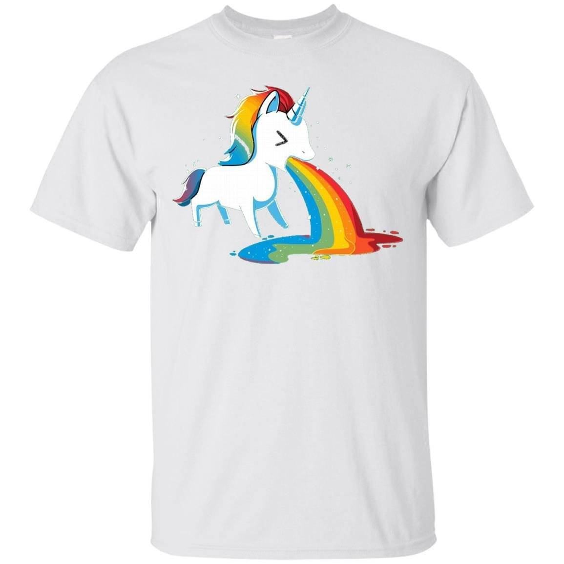 Unicorn Puking Rainbow T-Shirt