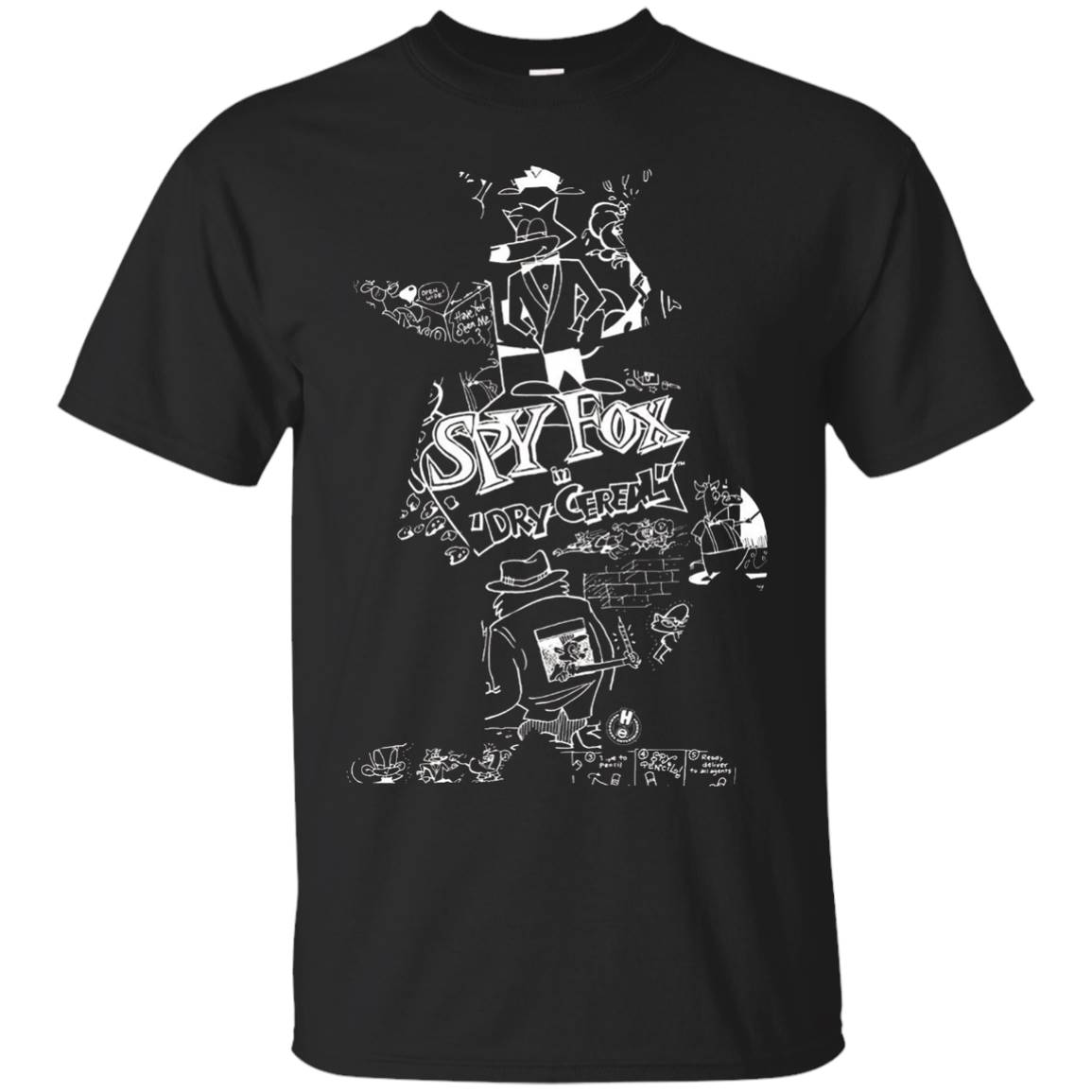 Humongous Entertainment Spy Fox Silhouette T-Shirt