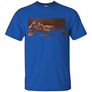 Burt Reynolds Iconic Playgirl Pose on a Tee Shirt