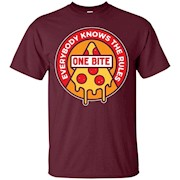 One Bite Everybody knows the Rules T Shirt Pizza – T-Shirt