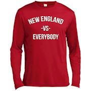 New England Vs Everybody City Football LS T-Shirt