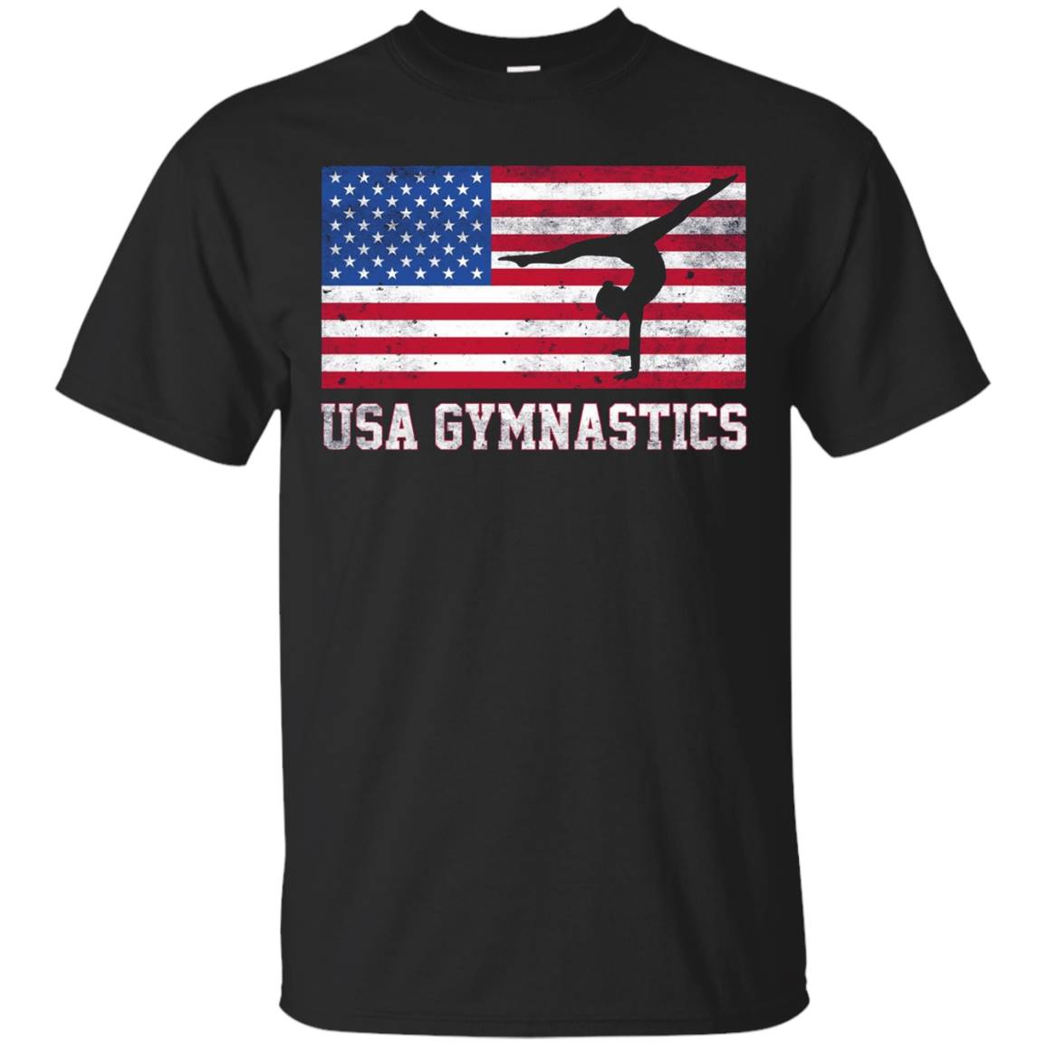 American Flag USA Gymnastics T-Shirt Team Training 2016 T-Shirt