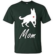 German Shepherd Mom – White – Cute Dog Mom T-Shirt