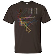 NYC Subway T-Shirt, New York City Line Metro Map, 300ppi T-Shirt