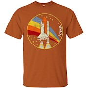 NASA Shuttle Launch Into Rainbow Graphic T-Shirt
