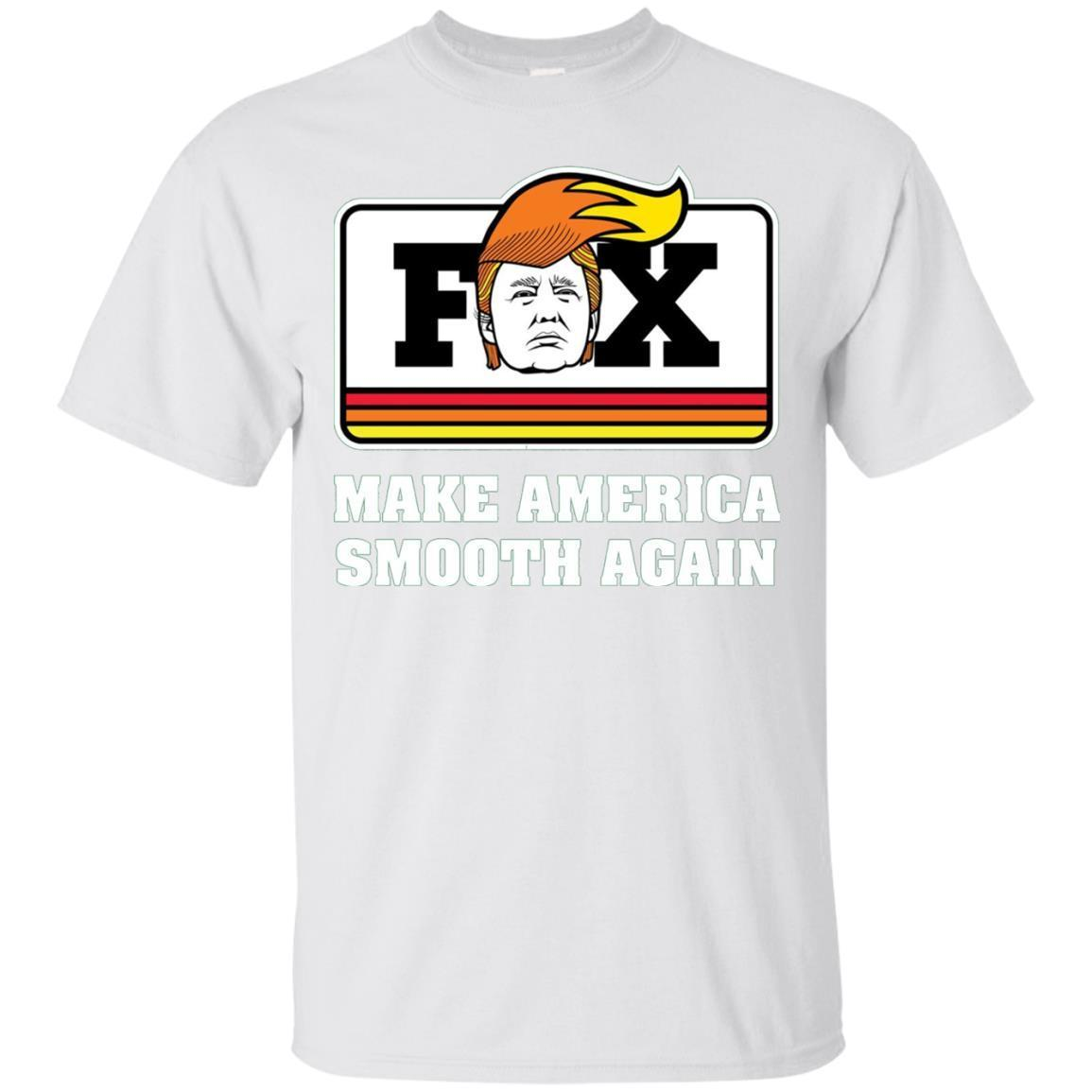 Fox Trump – Make America Smooth Again – Funny Cycle – T-Shirt