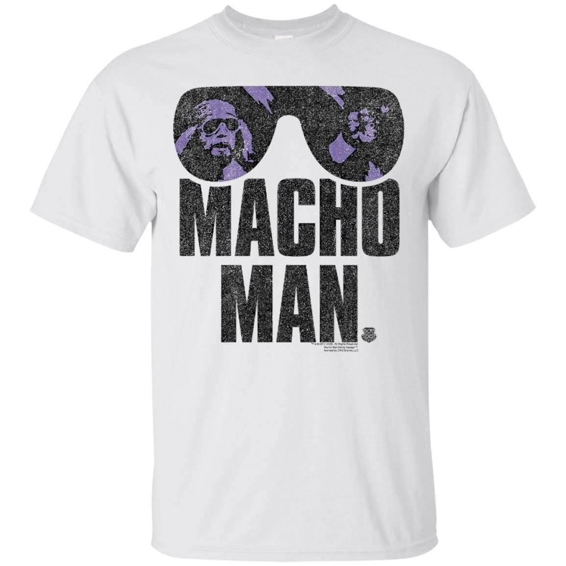 WWE Macho Man Classic Distressed Sunglasses – T-Shirt