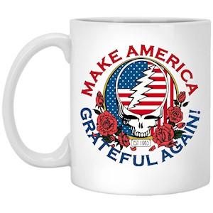 Make Grateful Again – America – White Mug