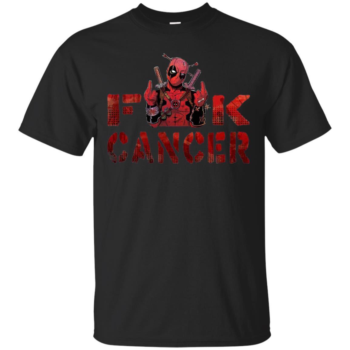 Deadpool fu k cancer, fu k cancer t-shirt