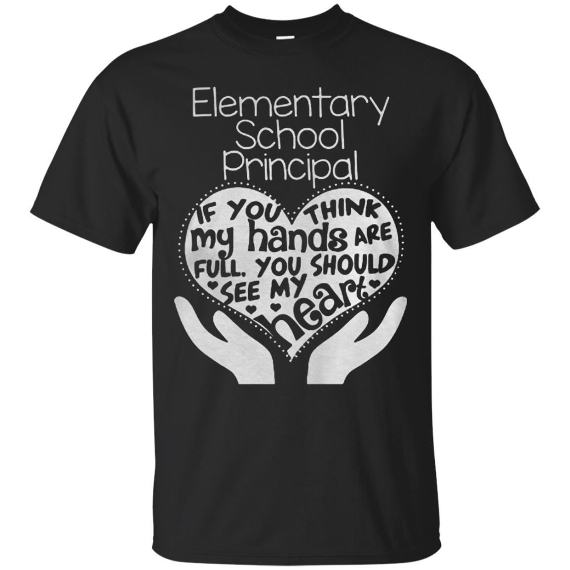 Full Heart Of Elementary School Principal T-Shirt