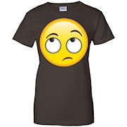Eyes Rolling Emoji Whatever Roll Uninterested Rude T-Shirt