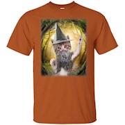 Wizard Kitty T-Shirt, Cute Fantasy Cat Tee by Zany Brainy