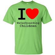 I love Waterboarding Children T-Shirt