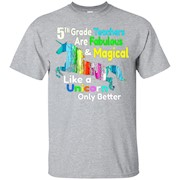 5th Grade Teacher Shirt Fabulous & Magical Like a Unicorn