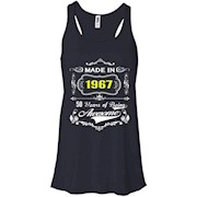 Made in 1967 Tshirt 50th Birthday 50 Years Gift Racerback Tank