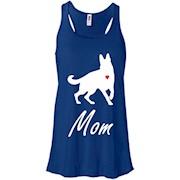 German Shepherd Mom – White – Cute Dog Mom Racerback Tank