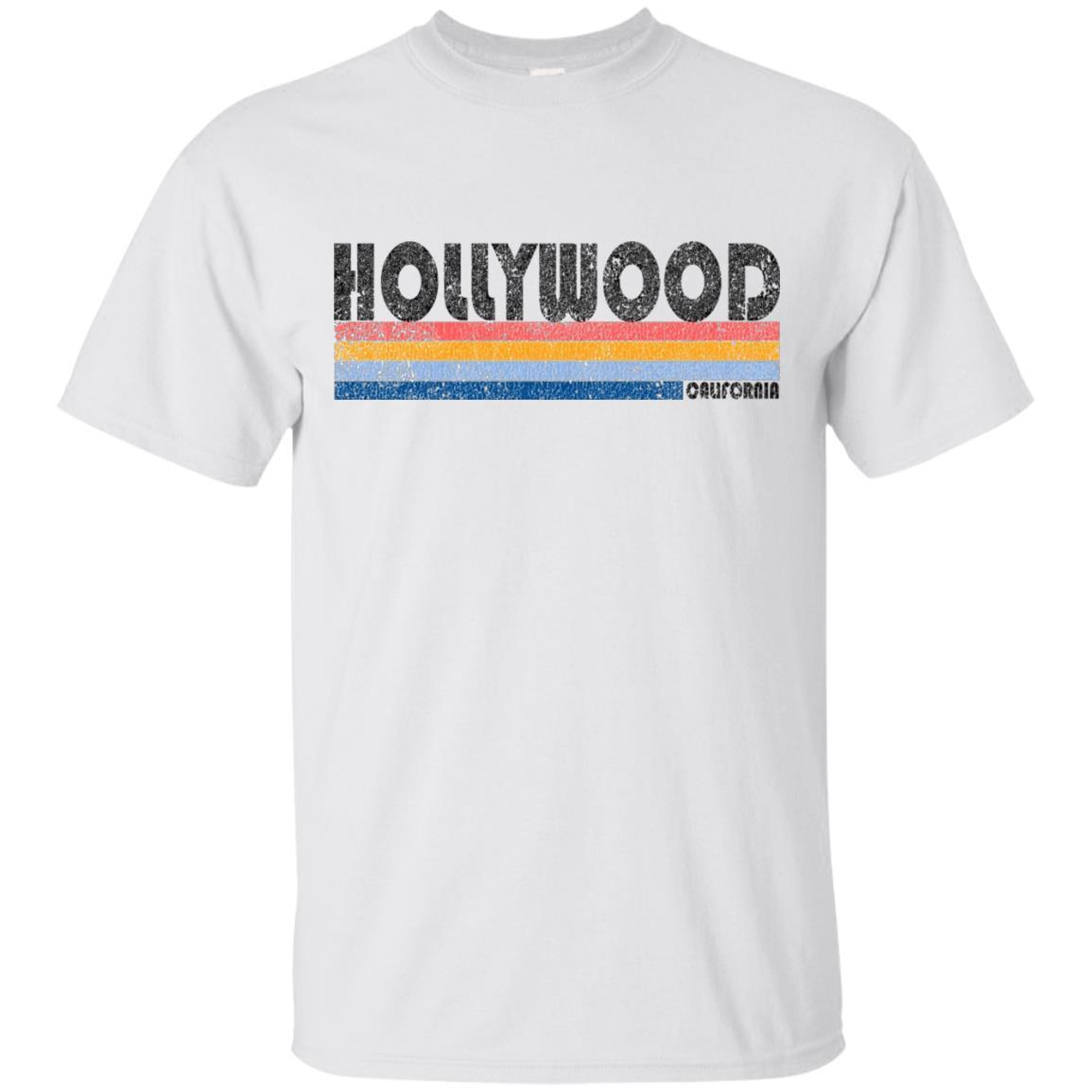 Vintage 1980s Style Hollywood California T Shirt