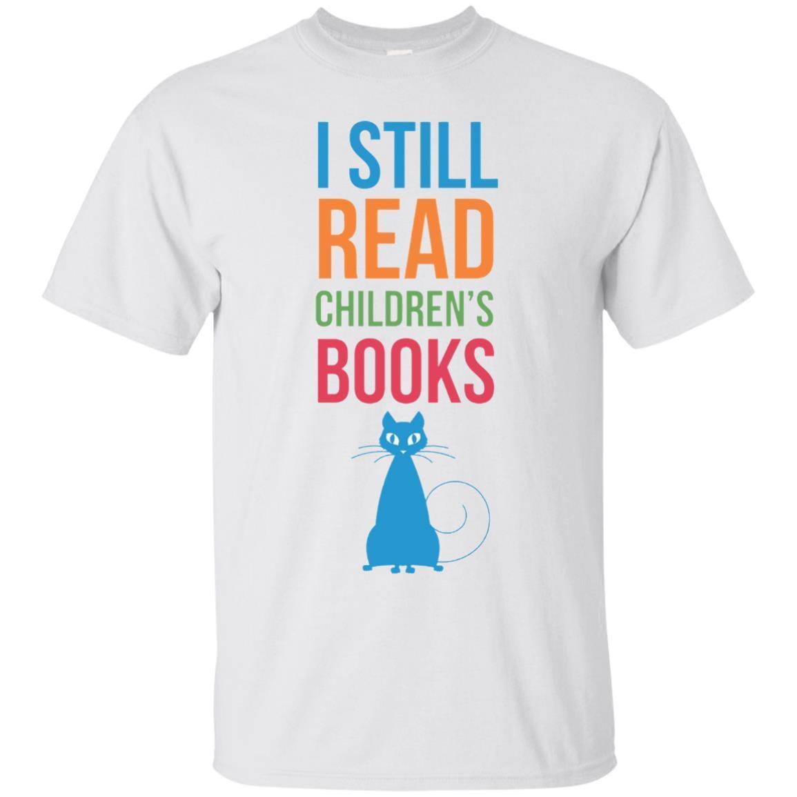 I Still Read Childrens Books Cat T-Shirt