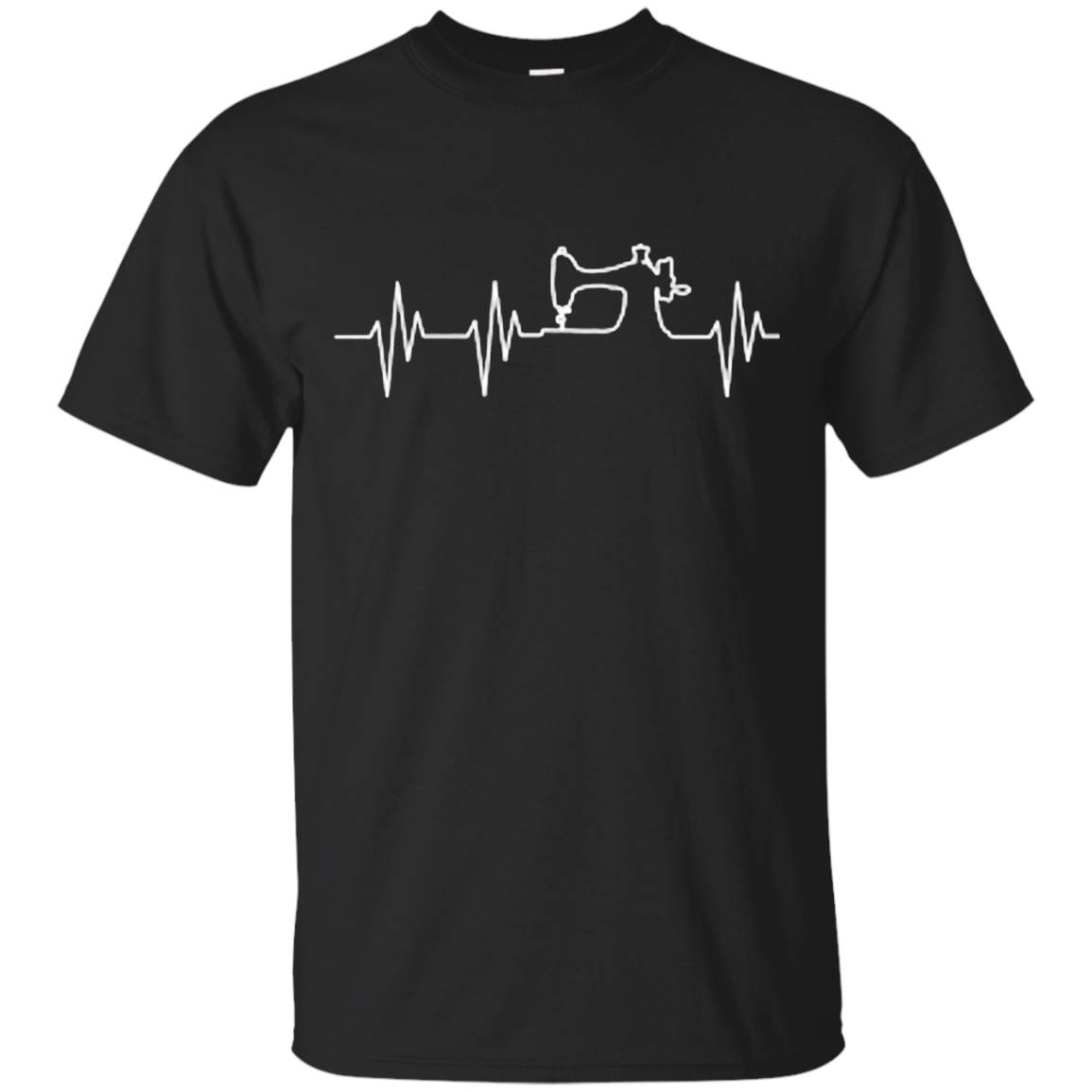 Sewing Machine Heartbeat T-Shirt Crafting Needle