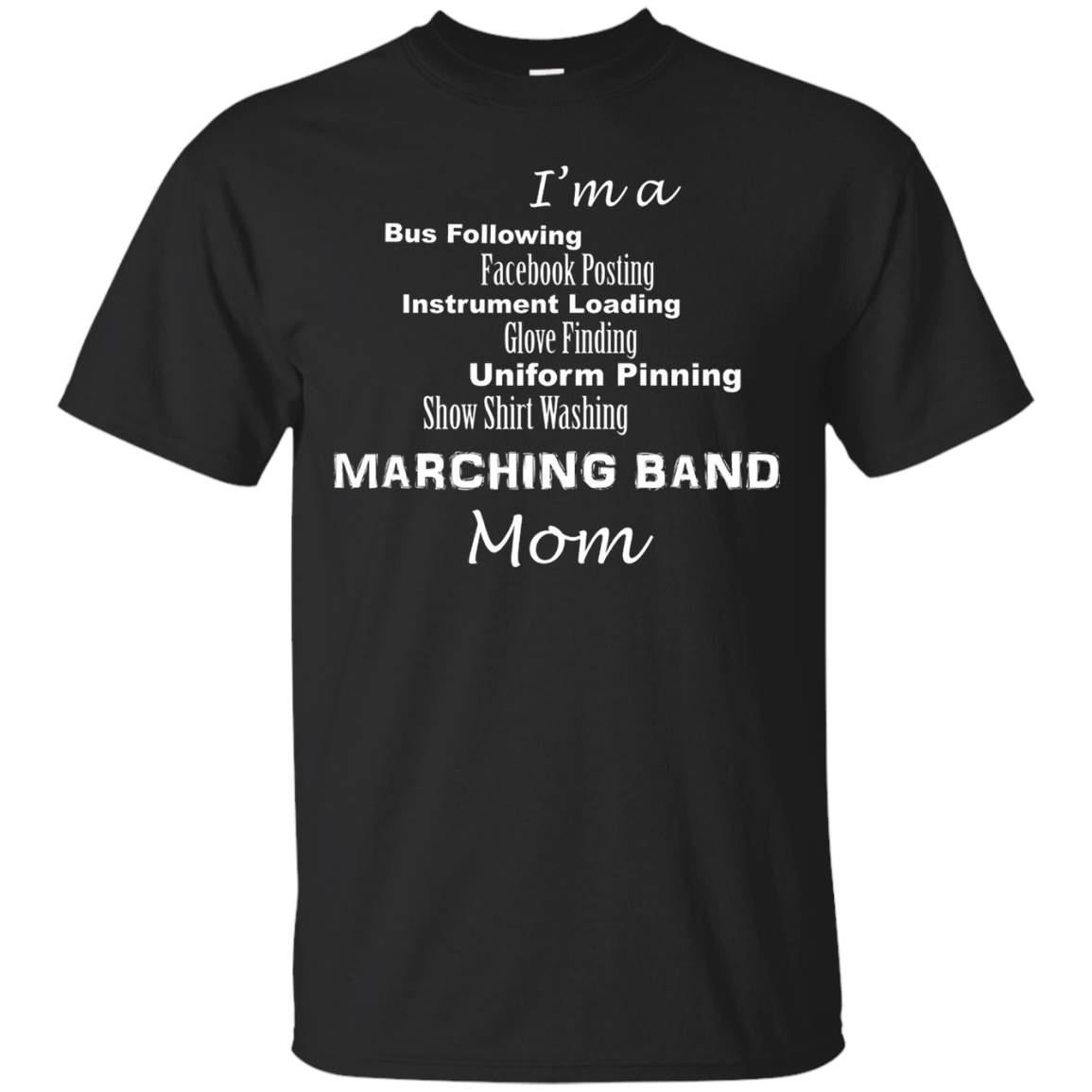 Funny High School Marching Band Mom Shirt