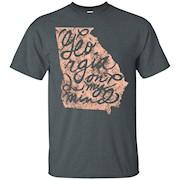 Georgia Peach State Atlanta Georgia On My Mind T Shirt