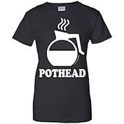 Pothead Coffee Lovers funny tee shirt