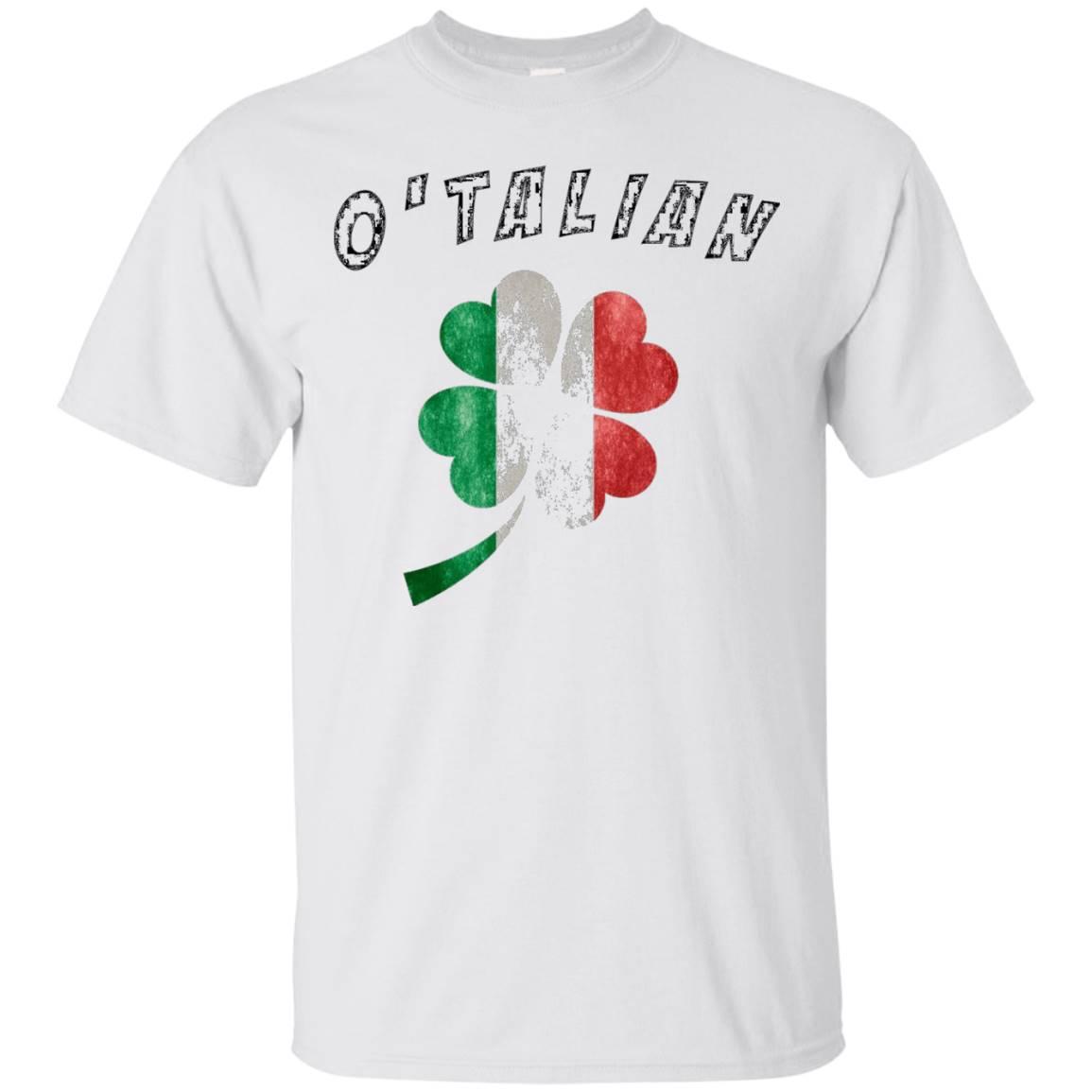 Italian Shirts – O'Talian Italy Flag Funny T-Shirt Shamrock
