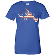 Crawfish t-shirt New Orleans Favorite American Flag Pattern