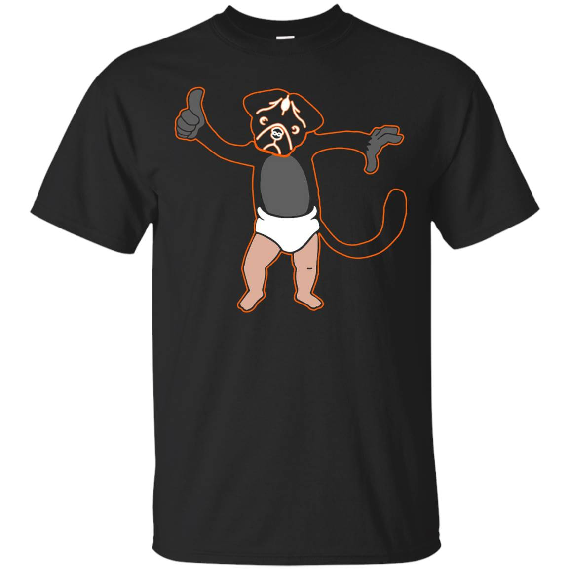 Funny T-Shirt – Monkey Puppy Baby T-Shirt