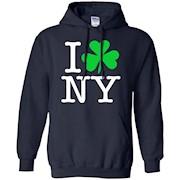 I Love Heart Shamrock NY New York St Patricks Irish T-Shirt