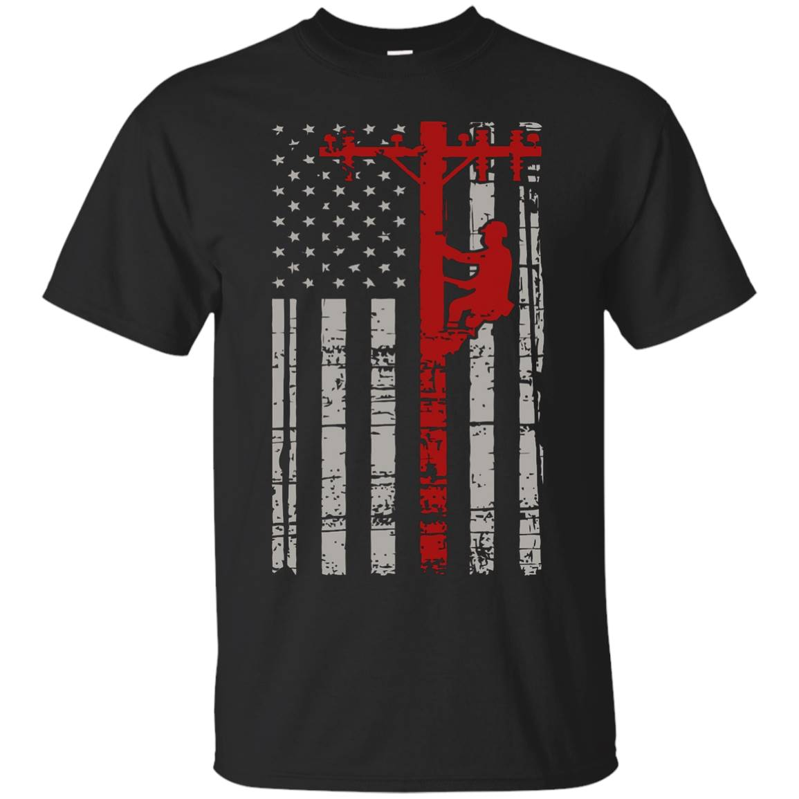 Lineman Shirts – American Flag Lineman