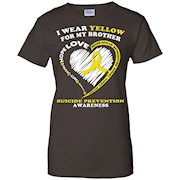 Suicide Prevention Shirt – I Wear Yellow For My Brother