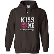 Kiss Me It's My Birthday Shirt – Pink Glitter Kiss Bday Tee