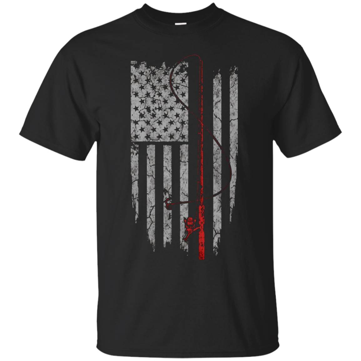 Fishing US Flag Shirt