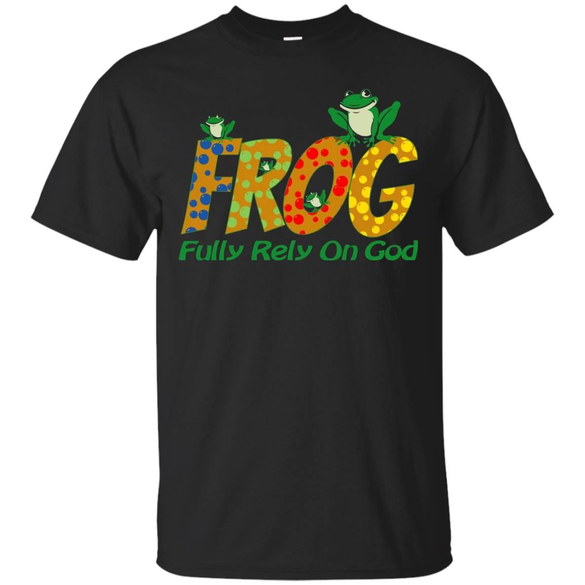 FROG Fully Rely On God Faith Religion Belief Christ T-Shirt