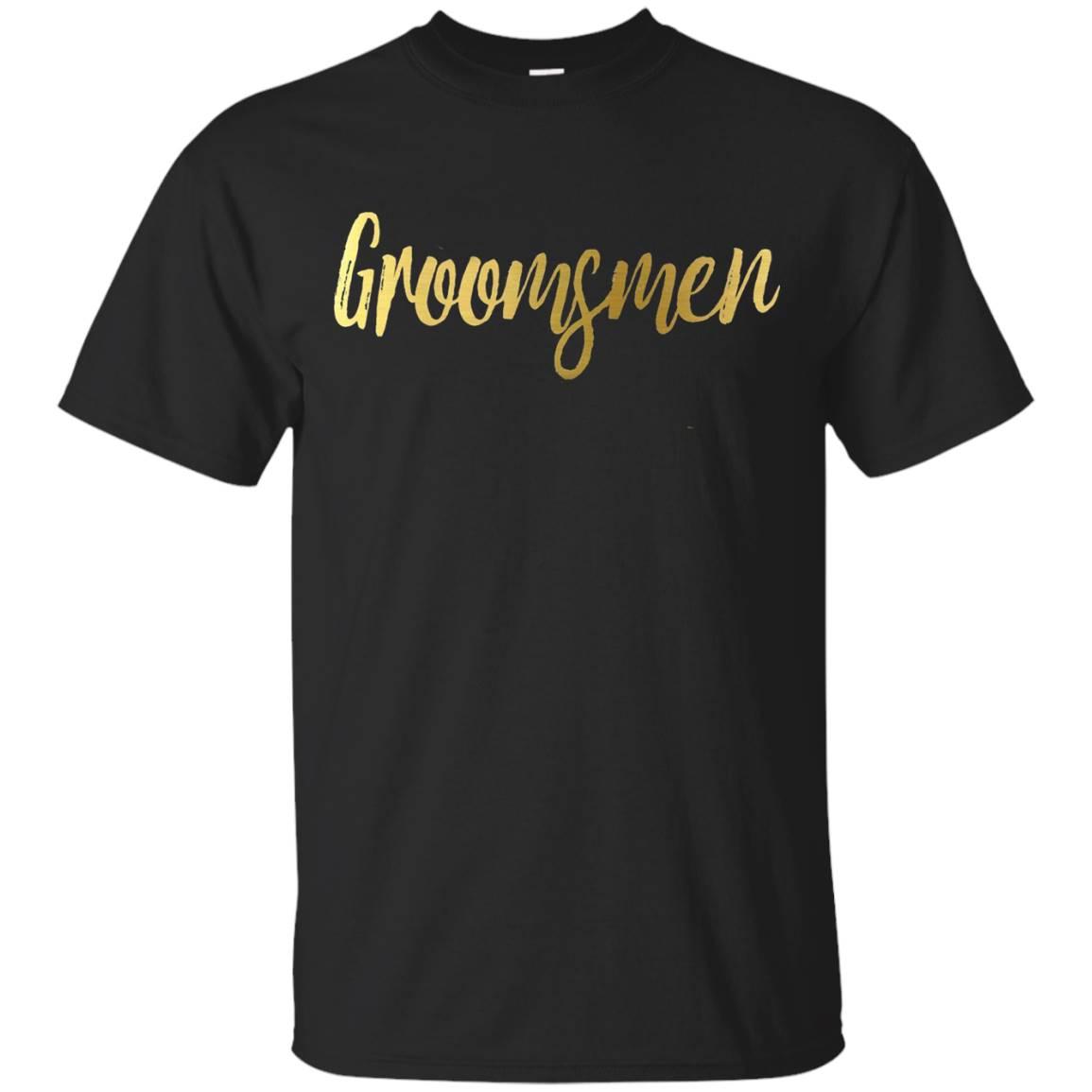 Groomsmen Shirt Gold Foil Wedding Party Bride Groom