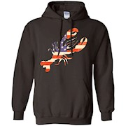 Lobster t-shirt with Distressed American Flag