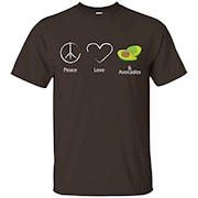Peace Love And Avocados Funny Food Lovers Shirt