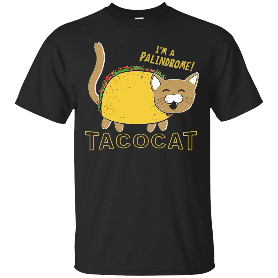 TACOCAT Palindrome Cartoon Funny Taco Cat Shirt