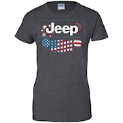 American Flag with Jeep Grille Shirt T-shirt