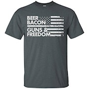 BEER BACON GUNS FREEDOM Tees Tshirts Shirts T-shirts