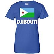 Djibouti Flag Of Native Pride Love Shirt T-Shirt
