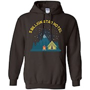 Funny Camping T-shirt, 5 Billion Star Hotel, by Zany Brainy