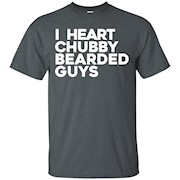I Heart Chubby Bearded Guys Tshirt