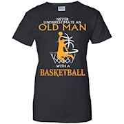 Men's Never underestimate an old man with a Basketball – Shirt