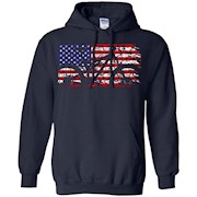 Mountain Bike American Flag Shirt – MTB USA Flag T-Shirt